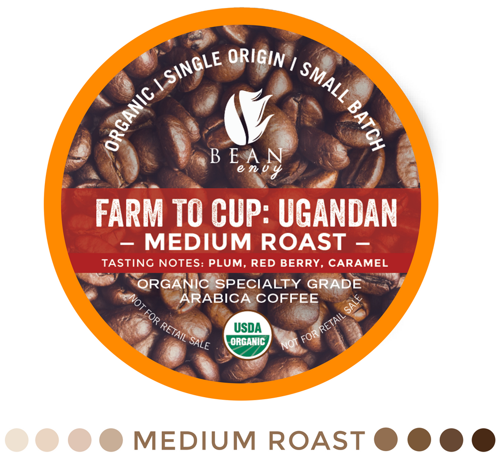 Bean Envy Organic Single Serve K Cup Coffee Pods - Fair Trade, Specialty Grade, Small Batch, Medium Roast - Compatible With Keurig Brewers