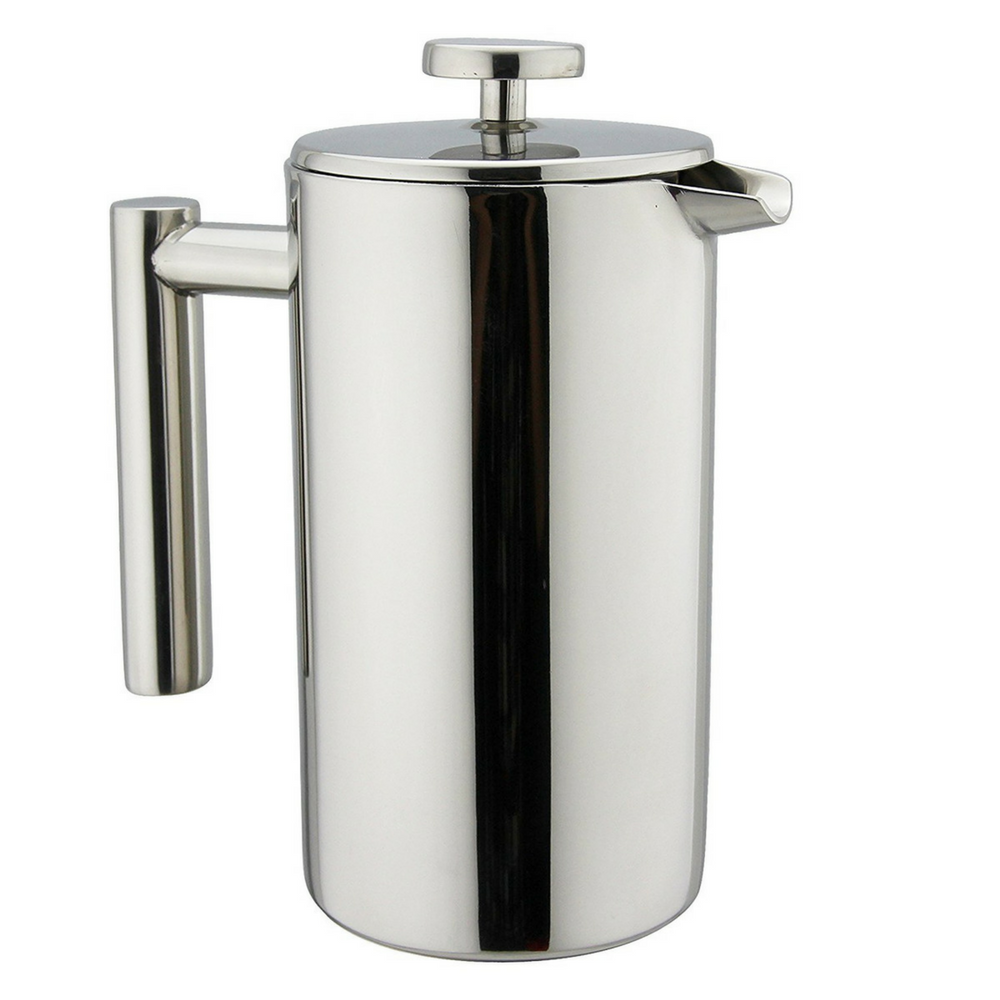 Bean Envy 34 oz Double Wall Stainless Steel French Press, High Quality Makes Perfect Cup of French Press Coffee