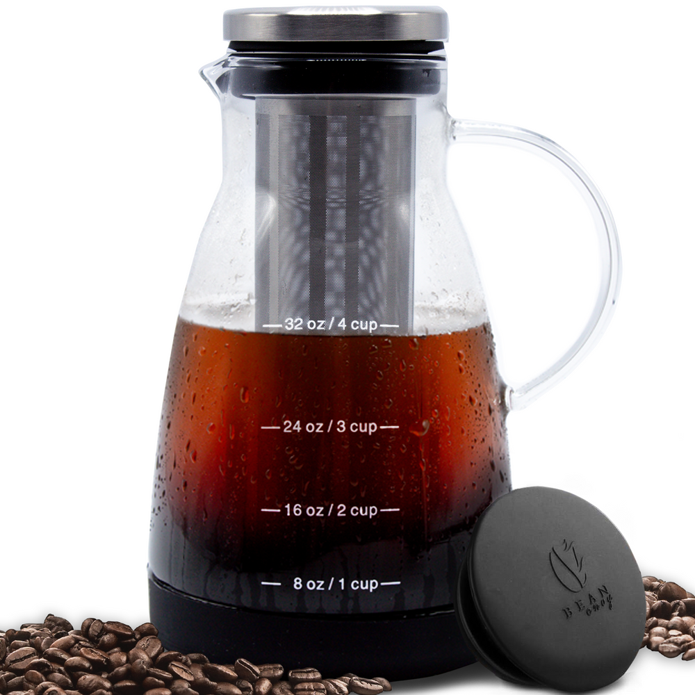 Bean Envy 32 oz Premium Cold Brew Coffee Maker, Includes Unique Non-Slip Silicone Base