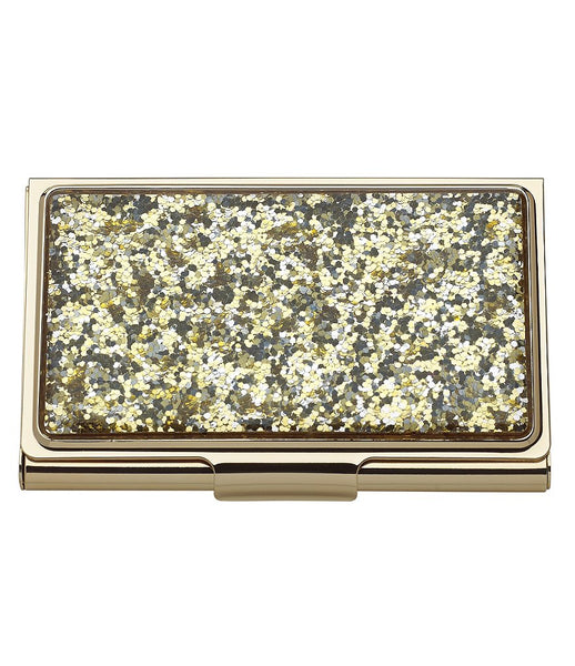 Kate Spade New York Simply Sparkly Gold Card Holder