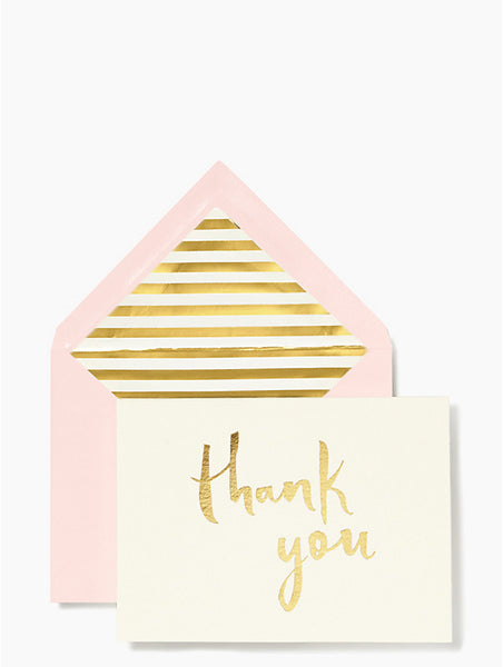 kate spade new york Paint Brush Thank You Card Set