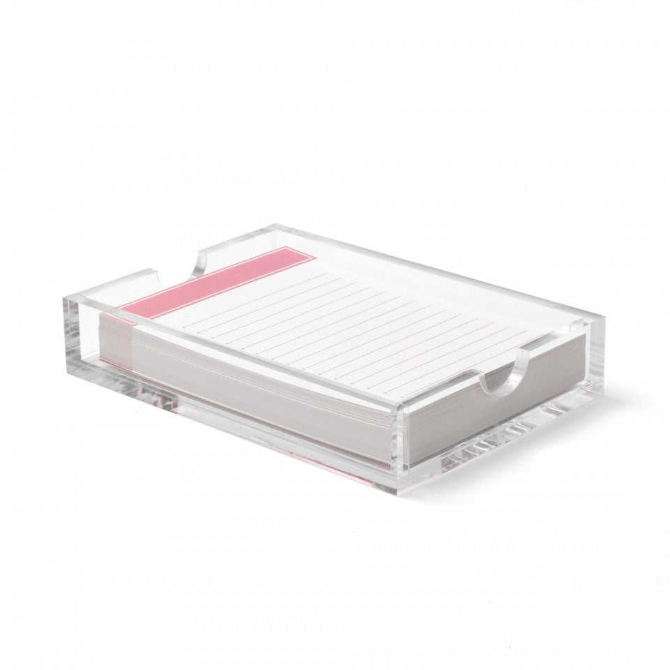 Russell&Hazel Jotter notepad with Acrylic case pink blush