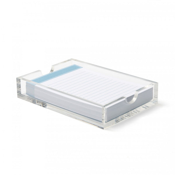 Russell & Hazel Jotter notepad with Acrylic holder blue sapphire
