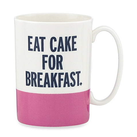 Kate Spade New York Mug Eat Cake For Breakfast