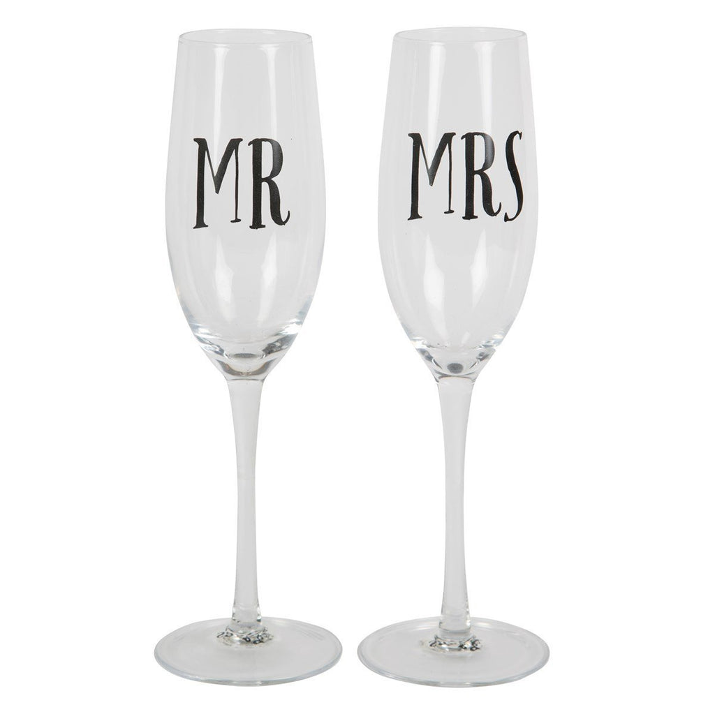 Sass & Belle - Mr & Mrs Champagne Toasting Flutes