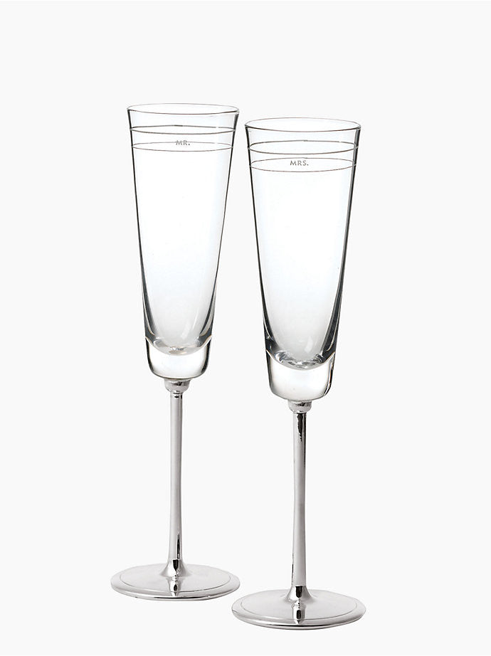 kate spade new york Darling Point Toasting Flute Pair