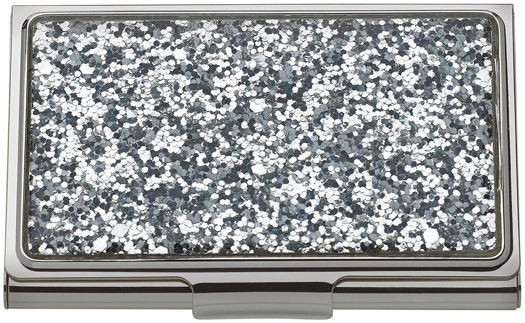 kate spade new york Simply Sparkling Card Holder - Silver