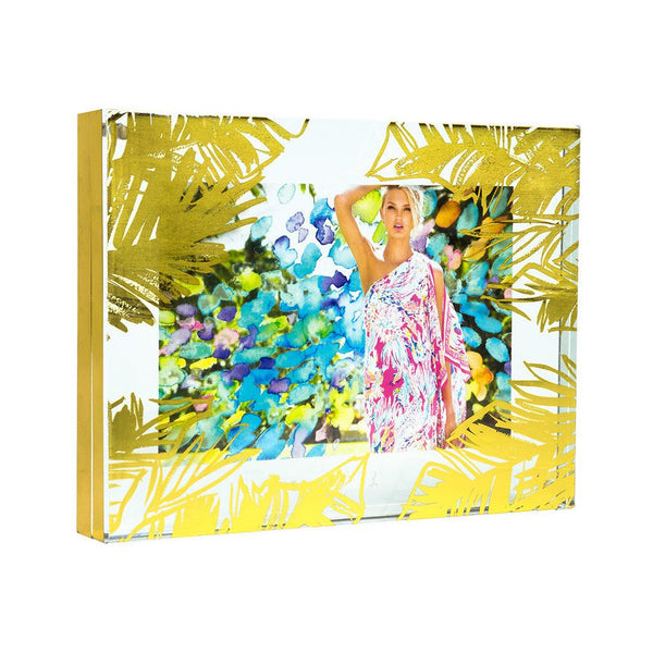Lilly Pulitzer Photo Frame Gold Leaves