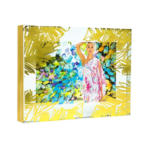 Lilly Pulitzer Acrylic Picture Frame - Gold Leaves