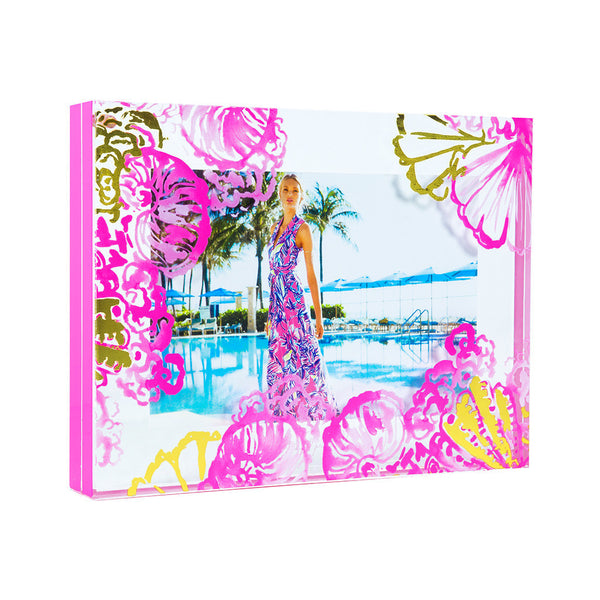 Lilly Pulitzer Photo Frame Coco Coral Crab