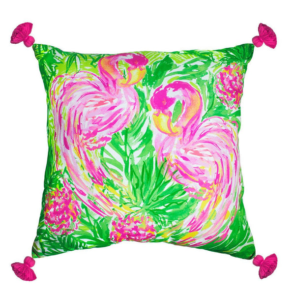 Lilly Pulitzer Pillow (X-Large), Flamingo