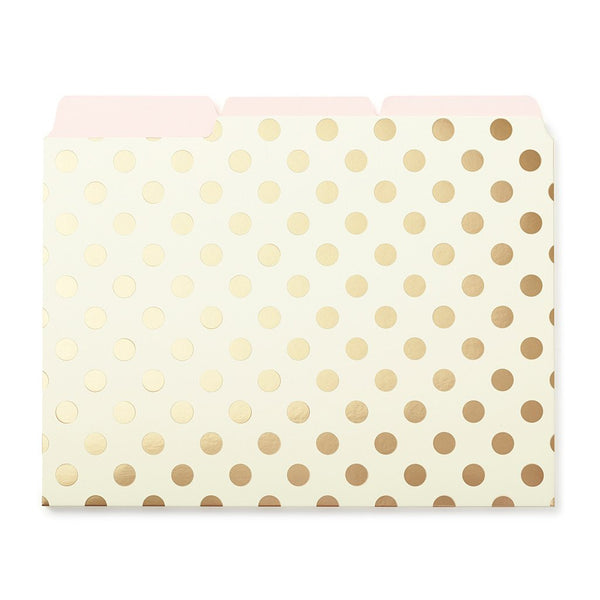 kate spade new york Strike Gold File Folders - Dots