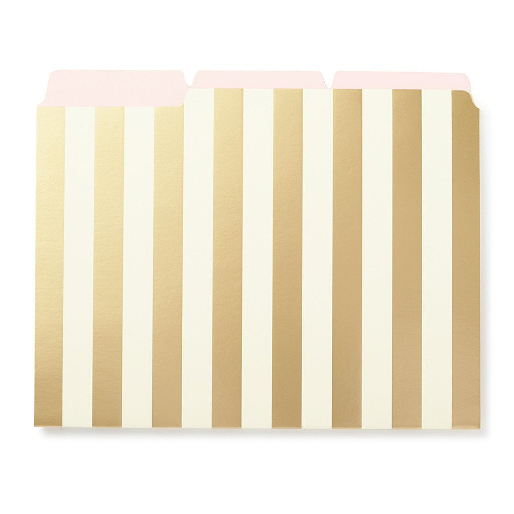 kate spade new york Strike Gold File Folders - Stripes