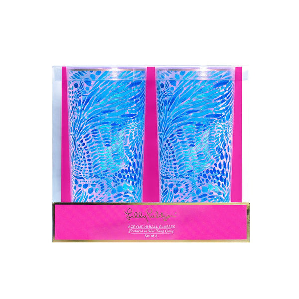 Lilly Pulitzer Acrylic Hi-Ball Glass Set