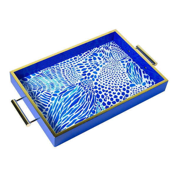 Lilly Pulitzer Hostess Tray, Blue Tang Gang