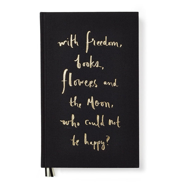 Kate Spade journal black with freedom