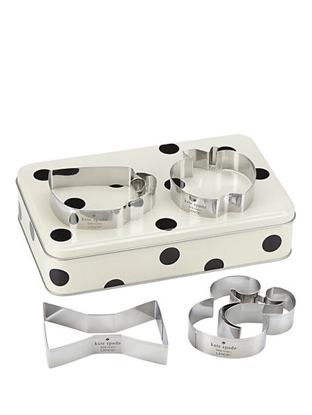 Kate Spade New York Cookie Cutter and Storage Tin