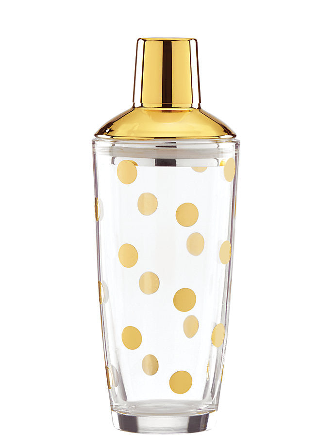 kate spade new york Two Of A Kind Gold Dot Shaker
