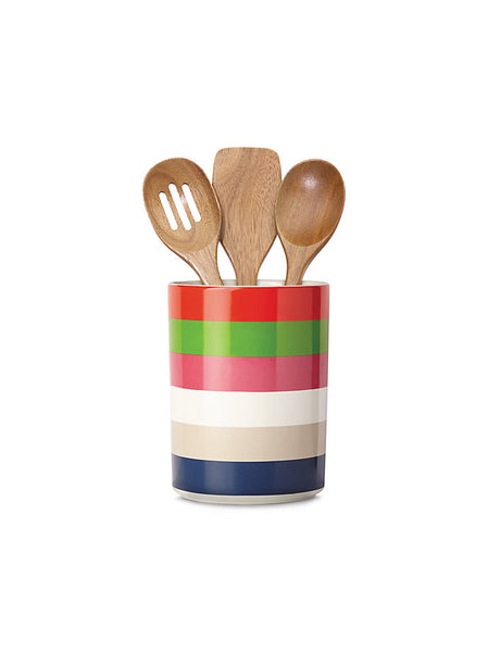kate spade new york Utensil Crock with 3 Wooden Utensils