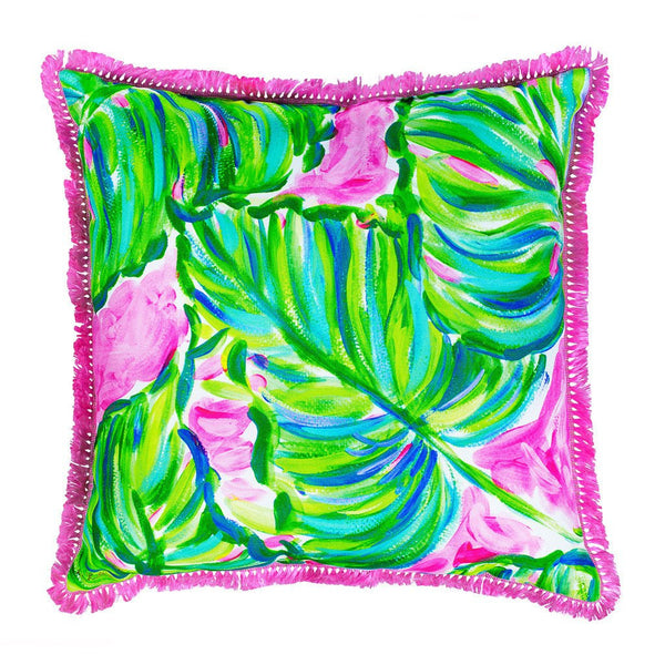 Lilly Pulitzer Large Pillow, Painted Palm