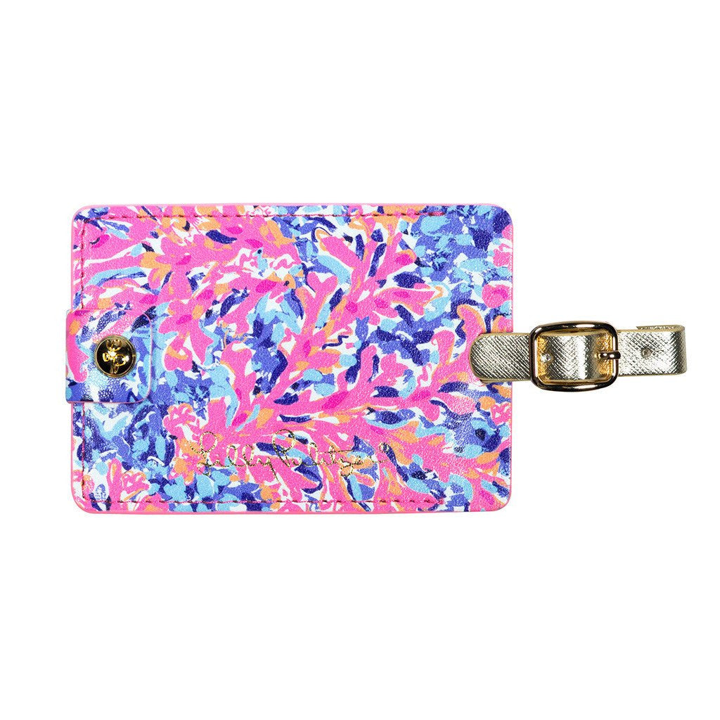 Lilly Pulitzer Luggage Tag Coco Coral Crab