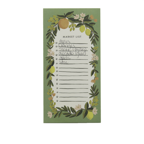 Rifle Paper Co. Market List Pad Citrus Floral Julep