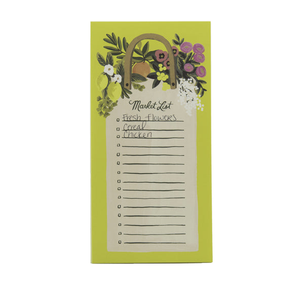 Rifle Paper Co. Market List Pad Farmer's Market