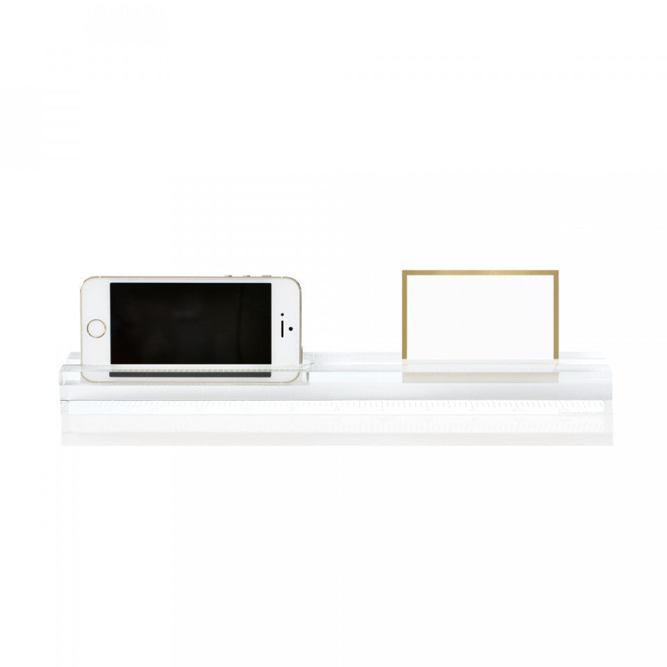 Russell+Hazel Acrylic Phone Dock and Ruler