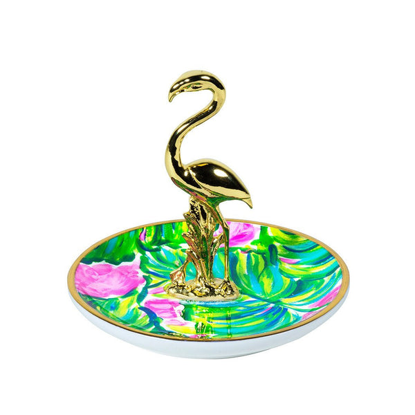 Lilly Pulitzer Ring Holder, Painted Palm