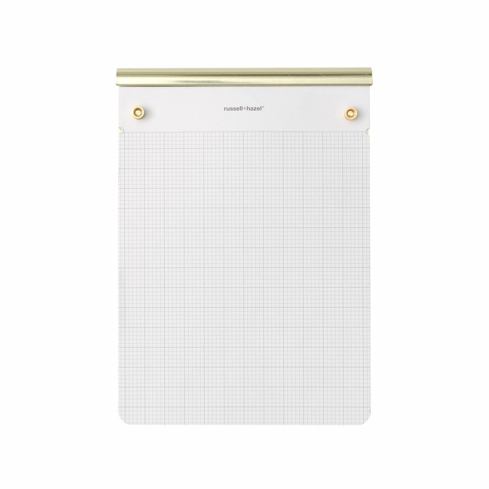 Russell&Hazel drafters notepad gold perforated grid paper graph paper