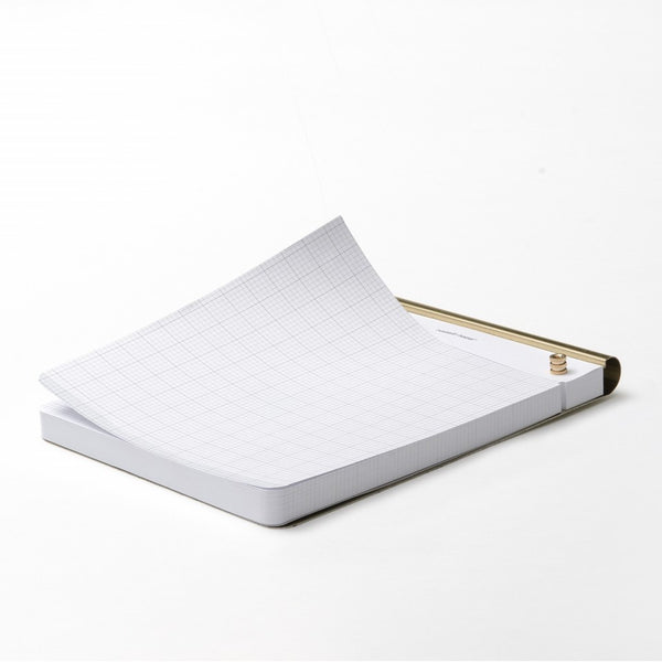 Russell and Hazel drafters tablet notepad gold perforated grid paper graph paper to-do notes write