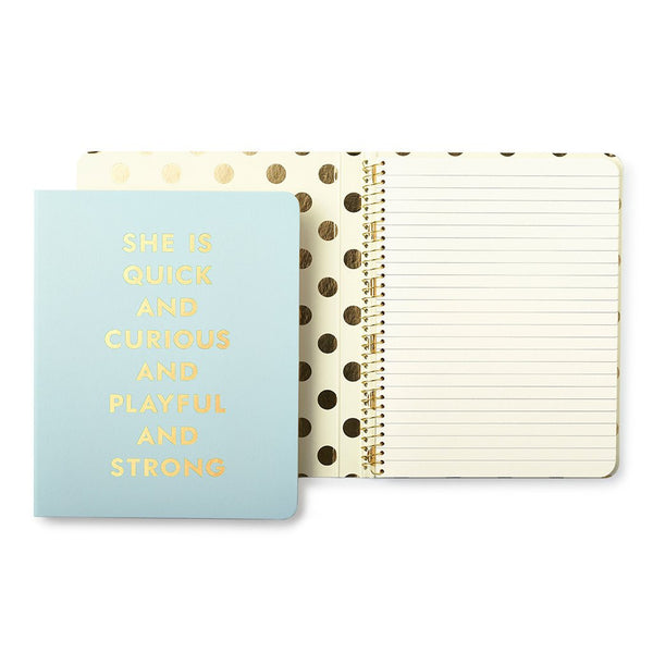 Kate Spade New York Conceal Spiral Notebook quick and curious
