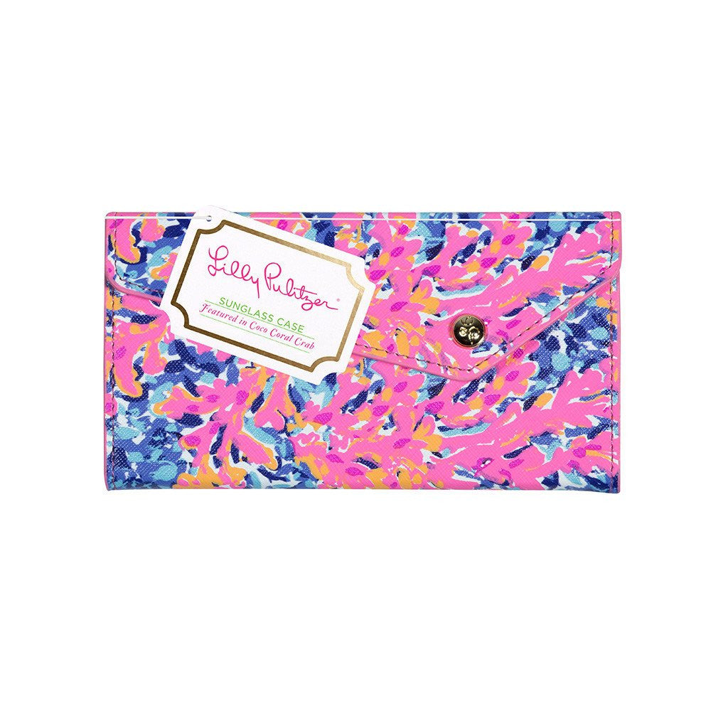 Lilly Pulitzer Sunglass Case, Coco Coral Crab