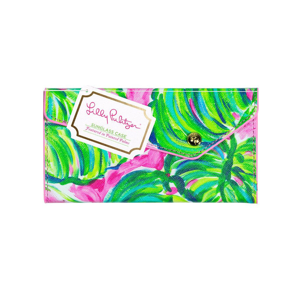 Lilly Pulitzer Sunglass Case, Painted Palm