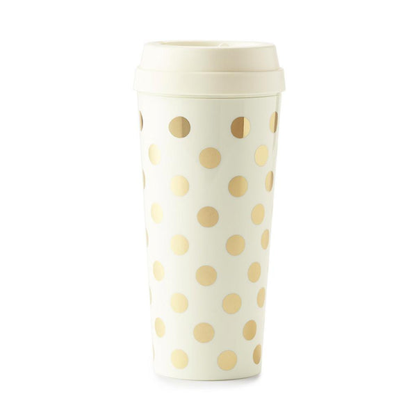 kate spade new york thermal mug gold dot