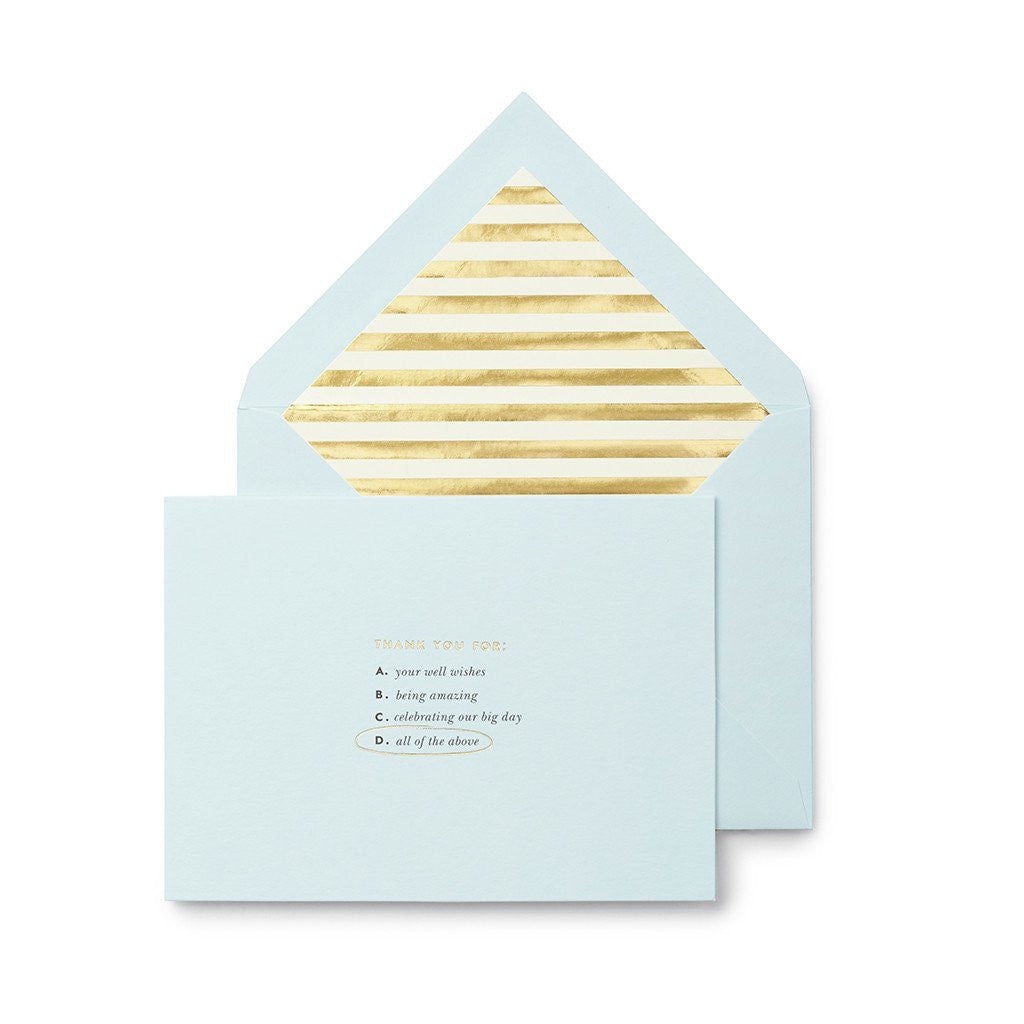 kate spade new york Bridal Note Card Set - All of the Above