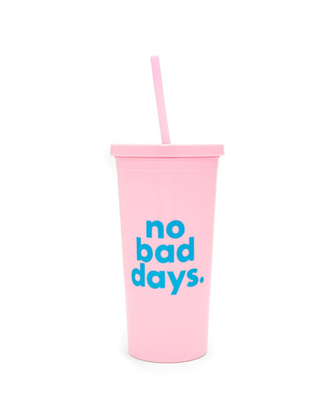 Ban.do Sip Sip Tumbler With Straw - No Bad Days