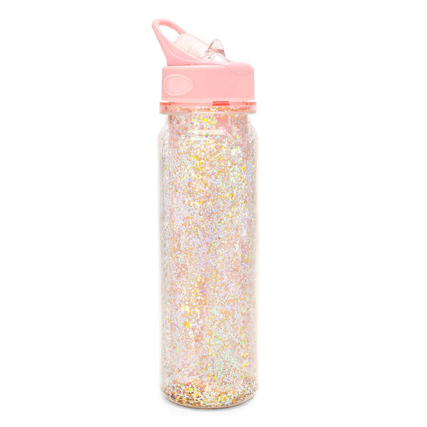 bando water bottle glitter gold pink bite vavlve