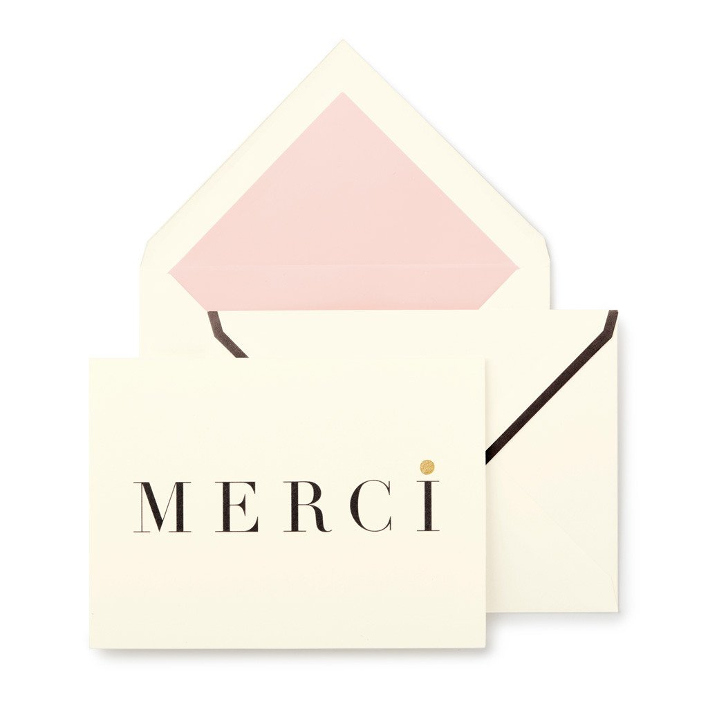 kate spade new york Notecard Set  Merci