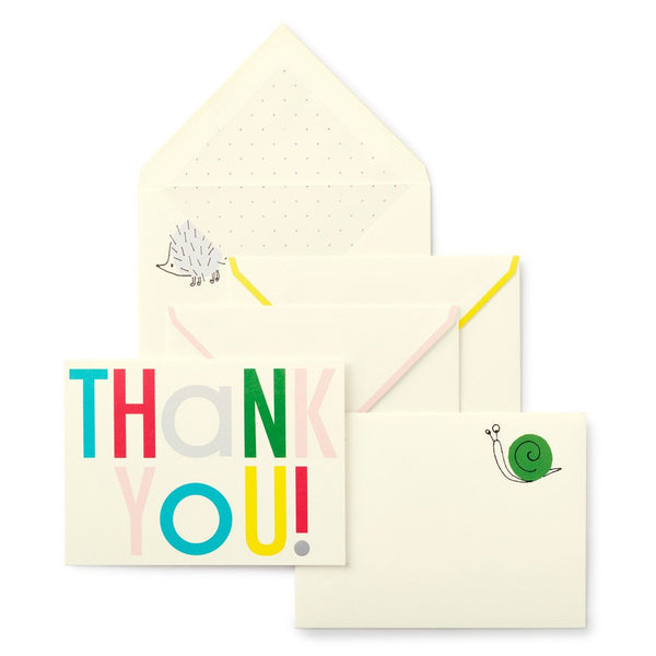 kate spade new york Thank You Card Set Hey Baby
