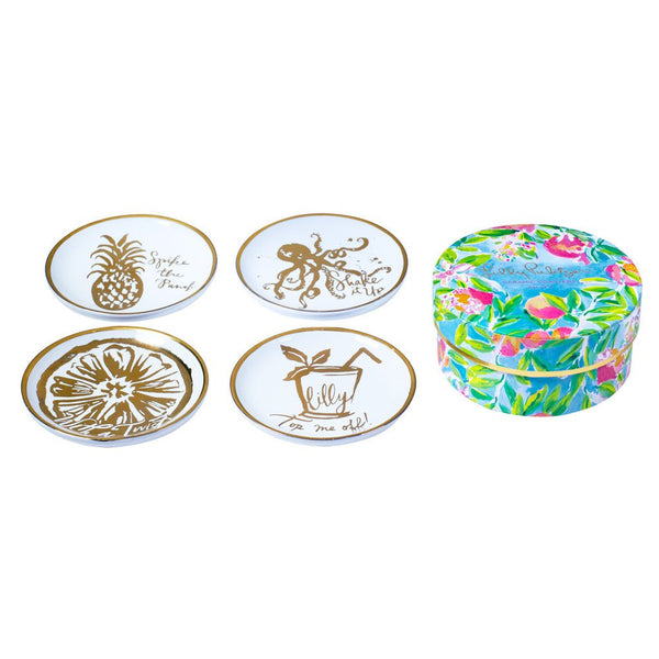 Lilly Pulitzer Ceramic Coasters - Fresh Squeezed