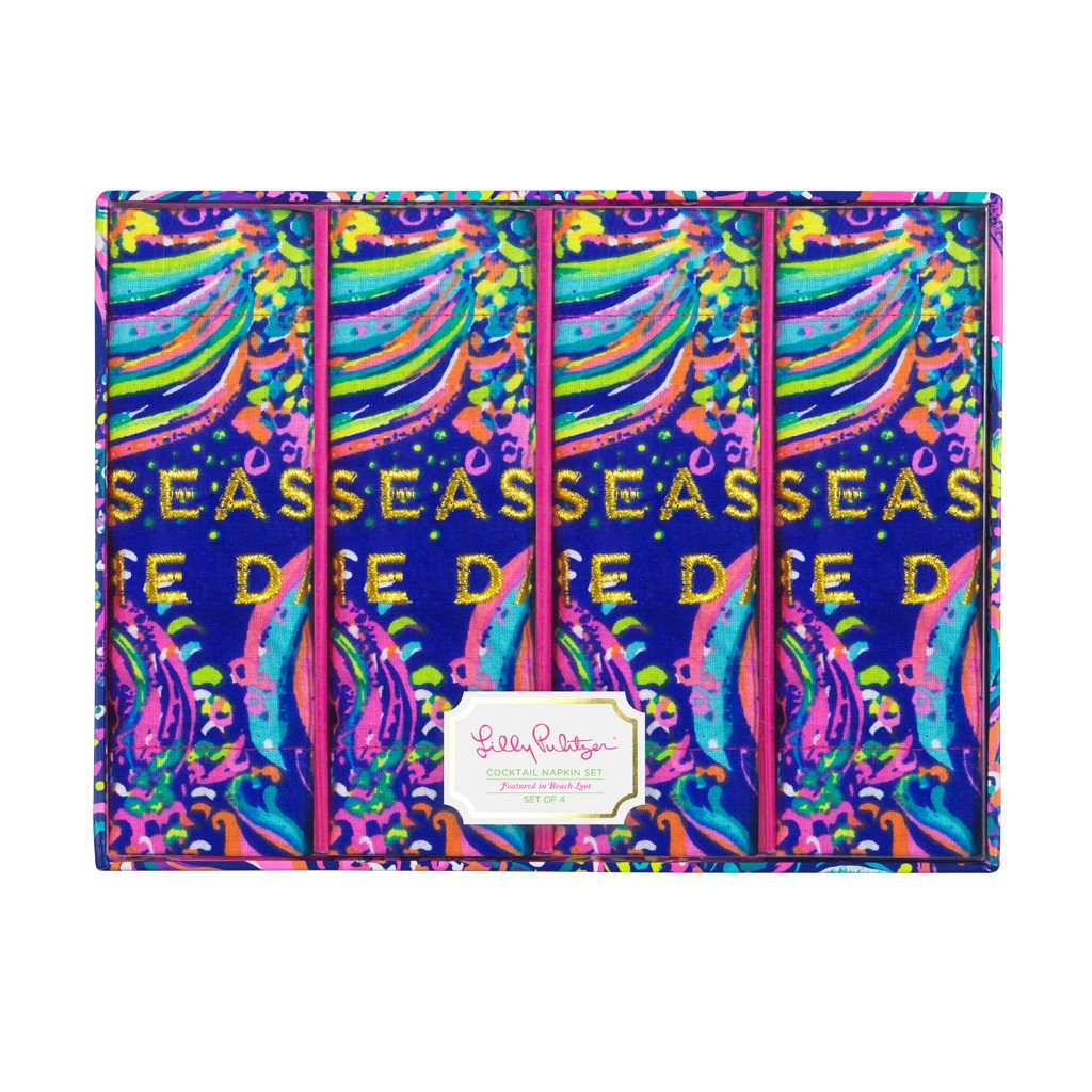 Lilly Pulitzer Cocktail Napkins - Beach Loot