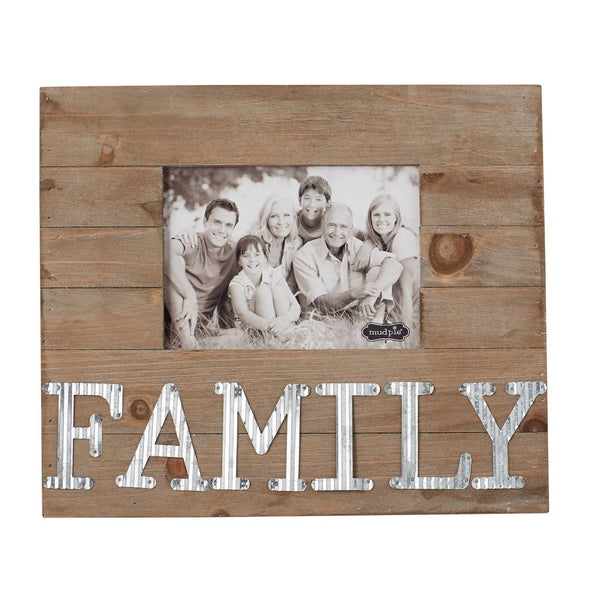 Mud Pie Frame - Family Tin