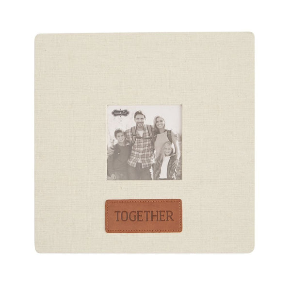 Mud Pie Together Linen & Leather Frame