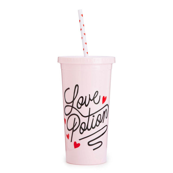 Ban.do Sip Sip Tumbler With Straw - Love Potion