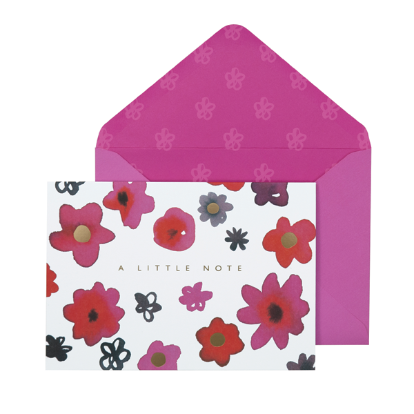 Portico Designs Boxed Note Cards Inky Flower 'A little Note'
