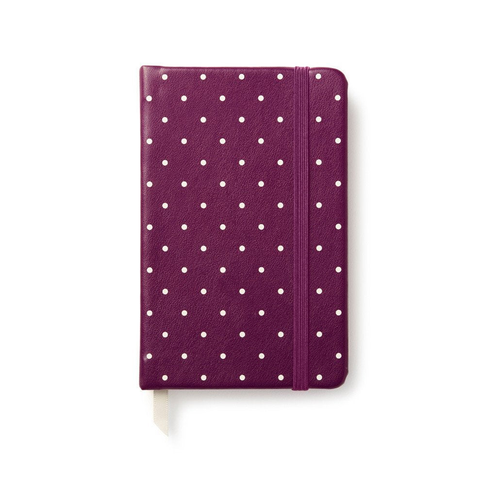 kate spade new york Take Note Medium Notebook - Plum Larabee Dot
