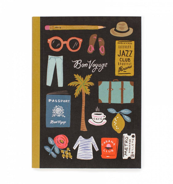 Rifle Paper Co - Travel Essential Journal to Record All Your Memories, Bon Voyage