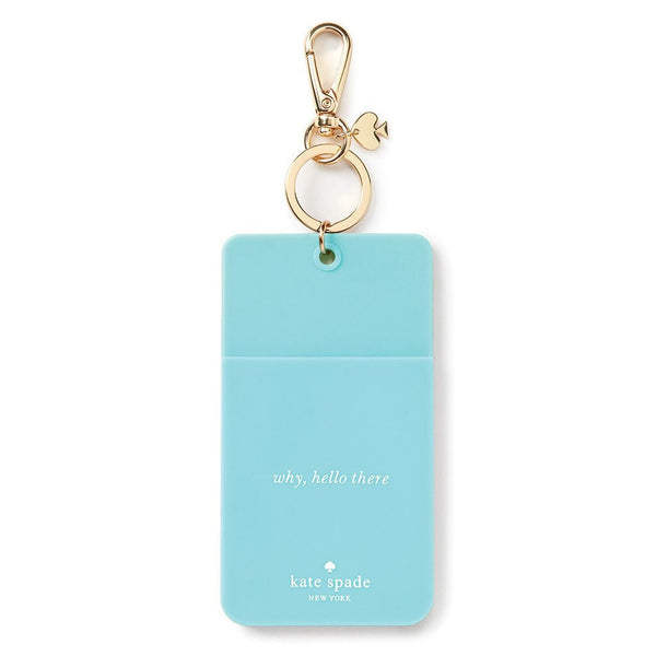 Kate Spade ID Clip turquoise color block
