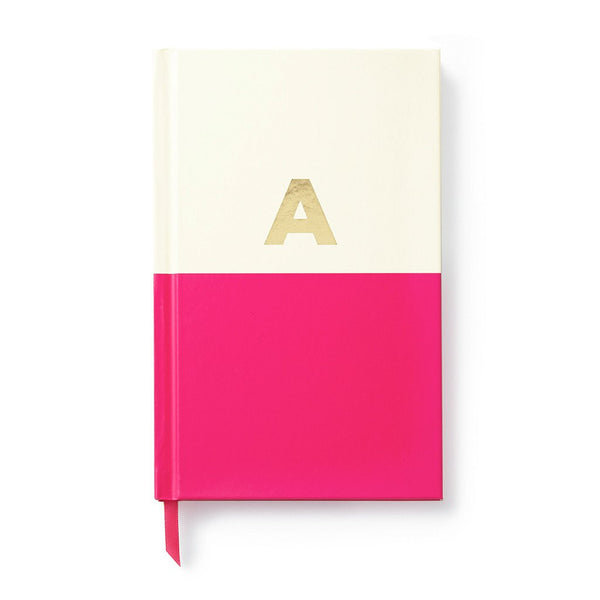 Kate Spade dipped initial notebook A